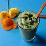 grøn smoothie, grøn grød, sund morgenmad