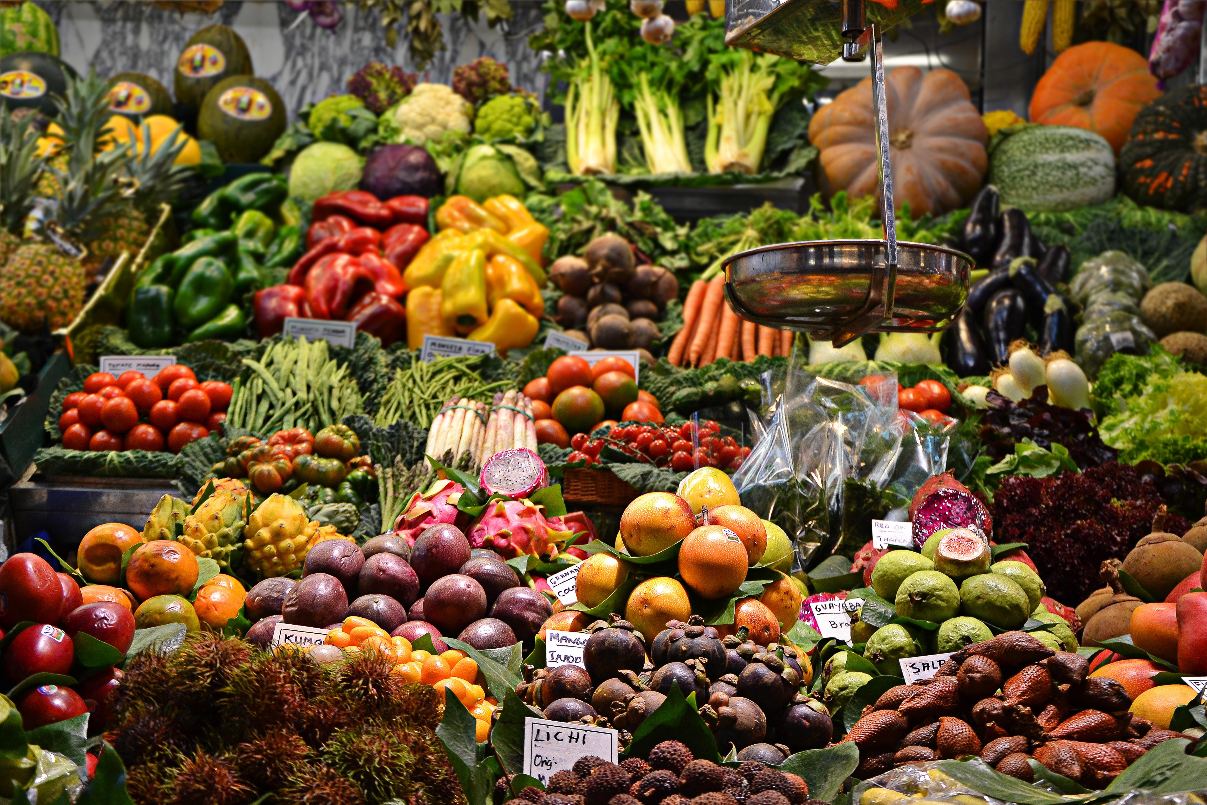 vitaminpiller, rå grøntsager, raw food,